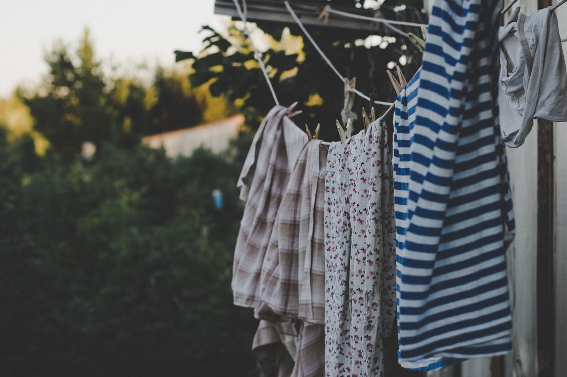 Photo of Clothes Hanging on Rope