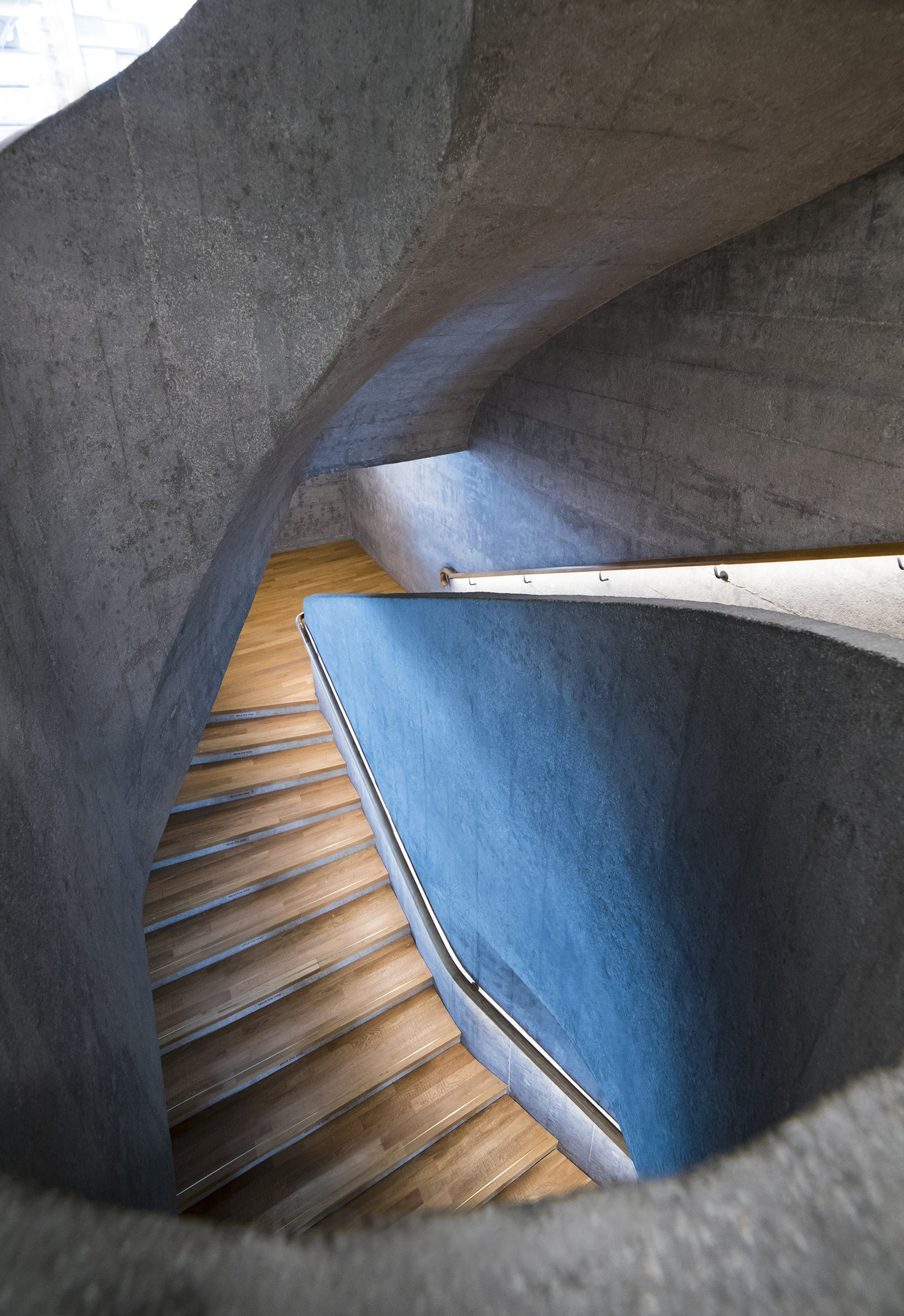 Free stock photo of architect, blue, design, downstairs