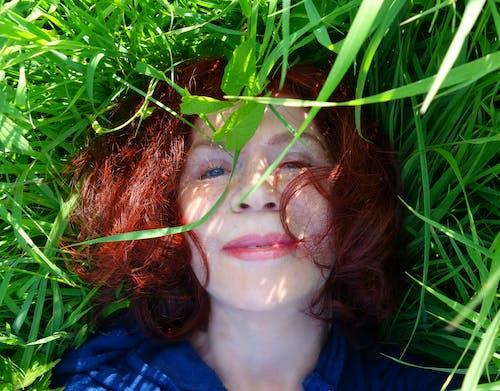 Free stock photo of beautiful woman, blue eyes, caucasian, close up