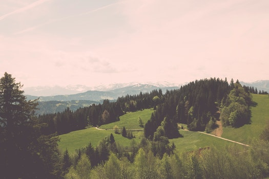 Free stock photo of mountains, nature, sky, field