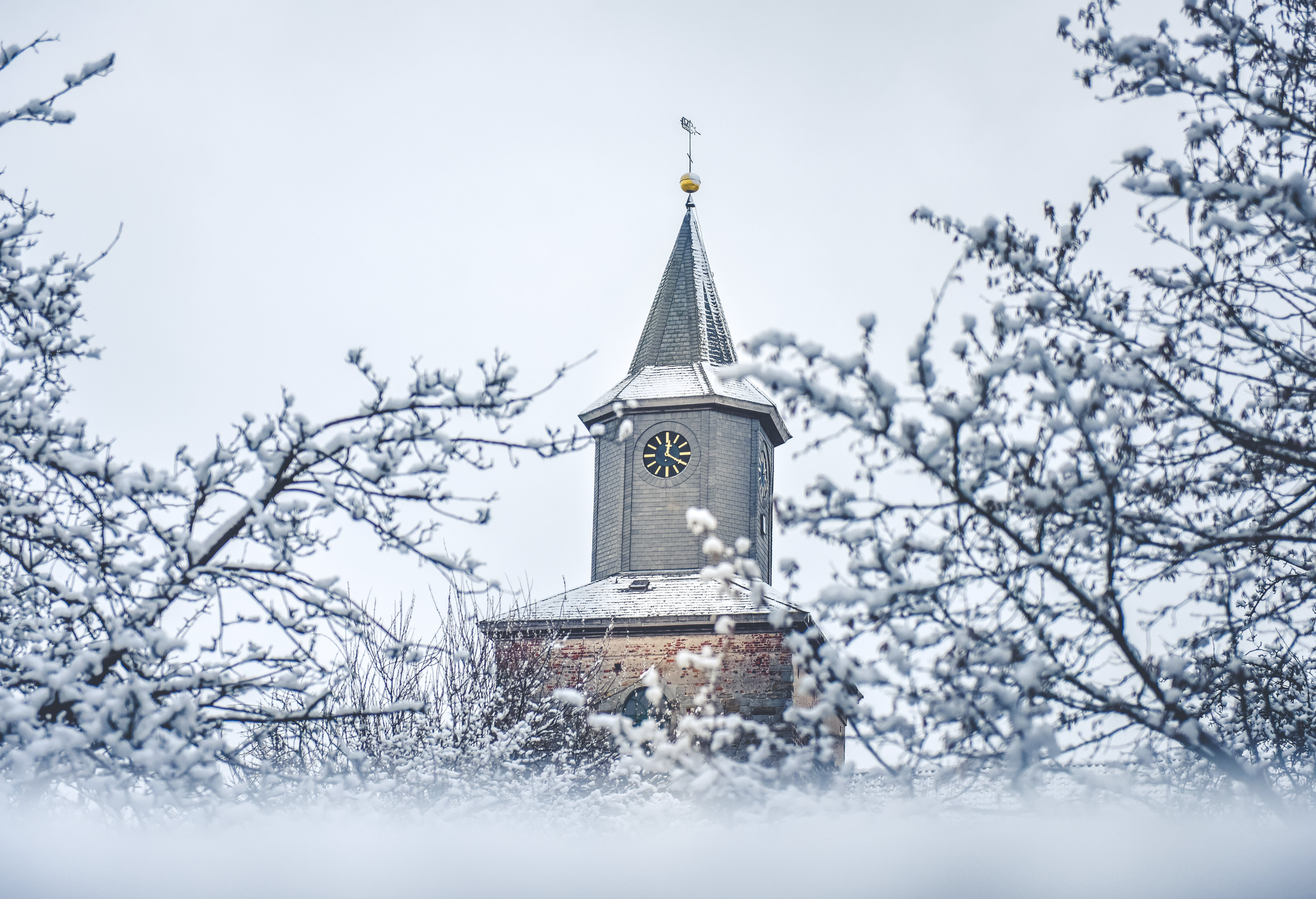 Free stock photo of snow, winter, church
