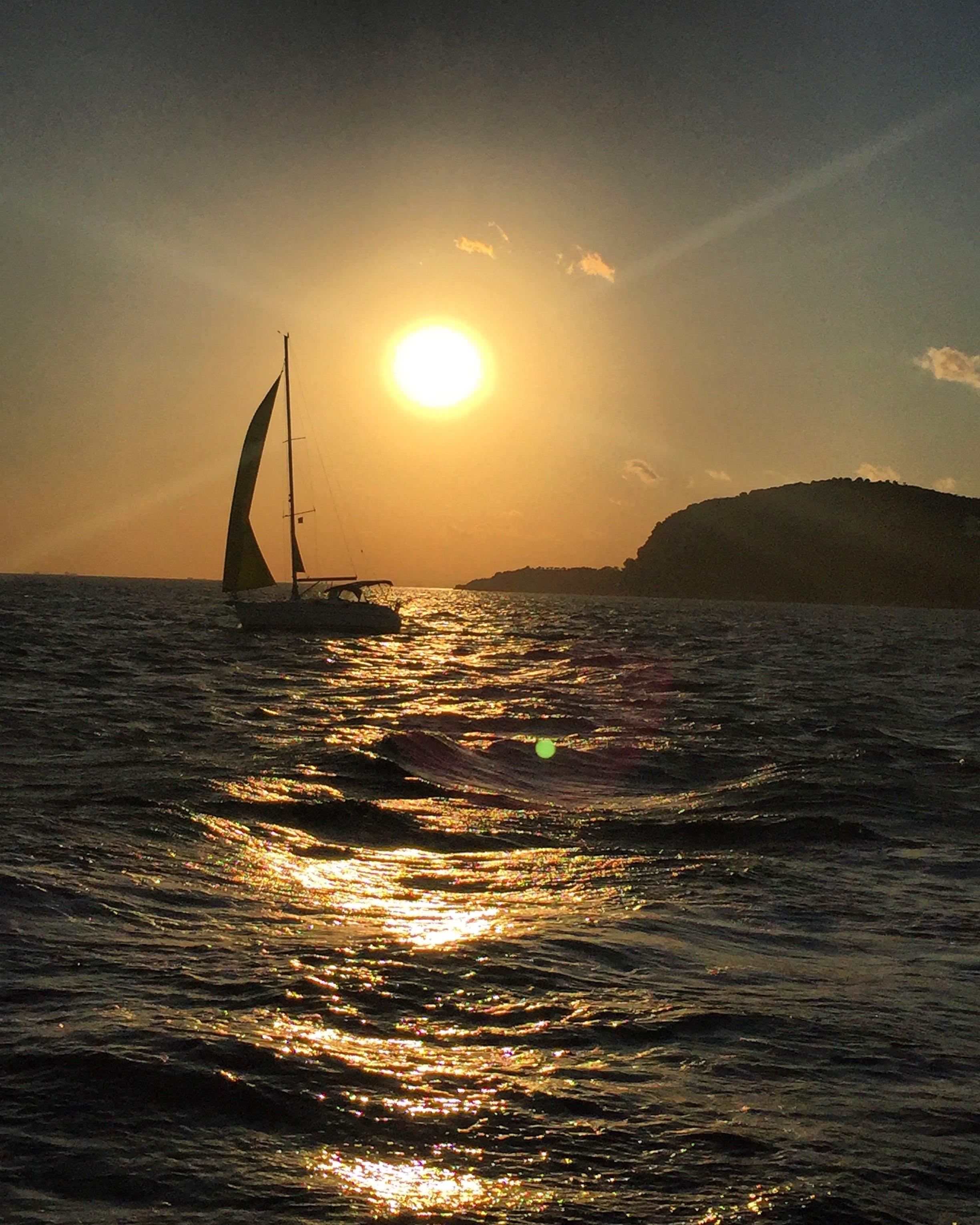 Free stock photo of sea, sun, yacht