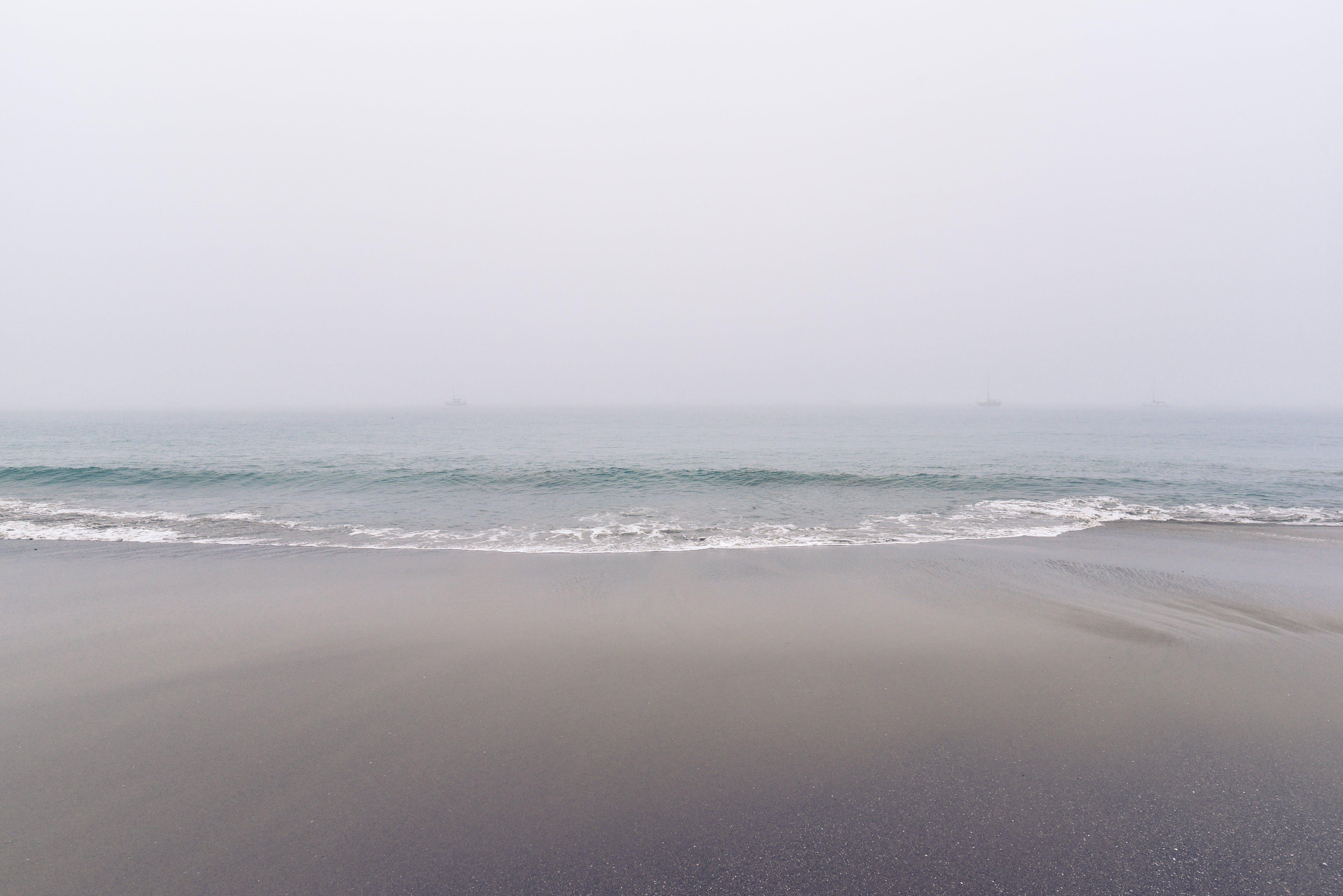 Ocean Waves on Beach Side