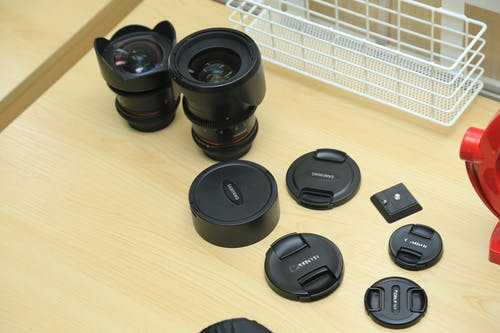 canonlens, kamera lensi, optik, samyanglens içeren Ücretsiz stok fotoğraf