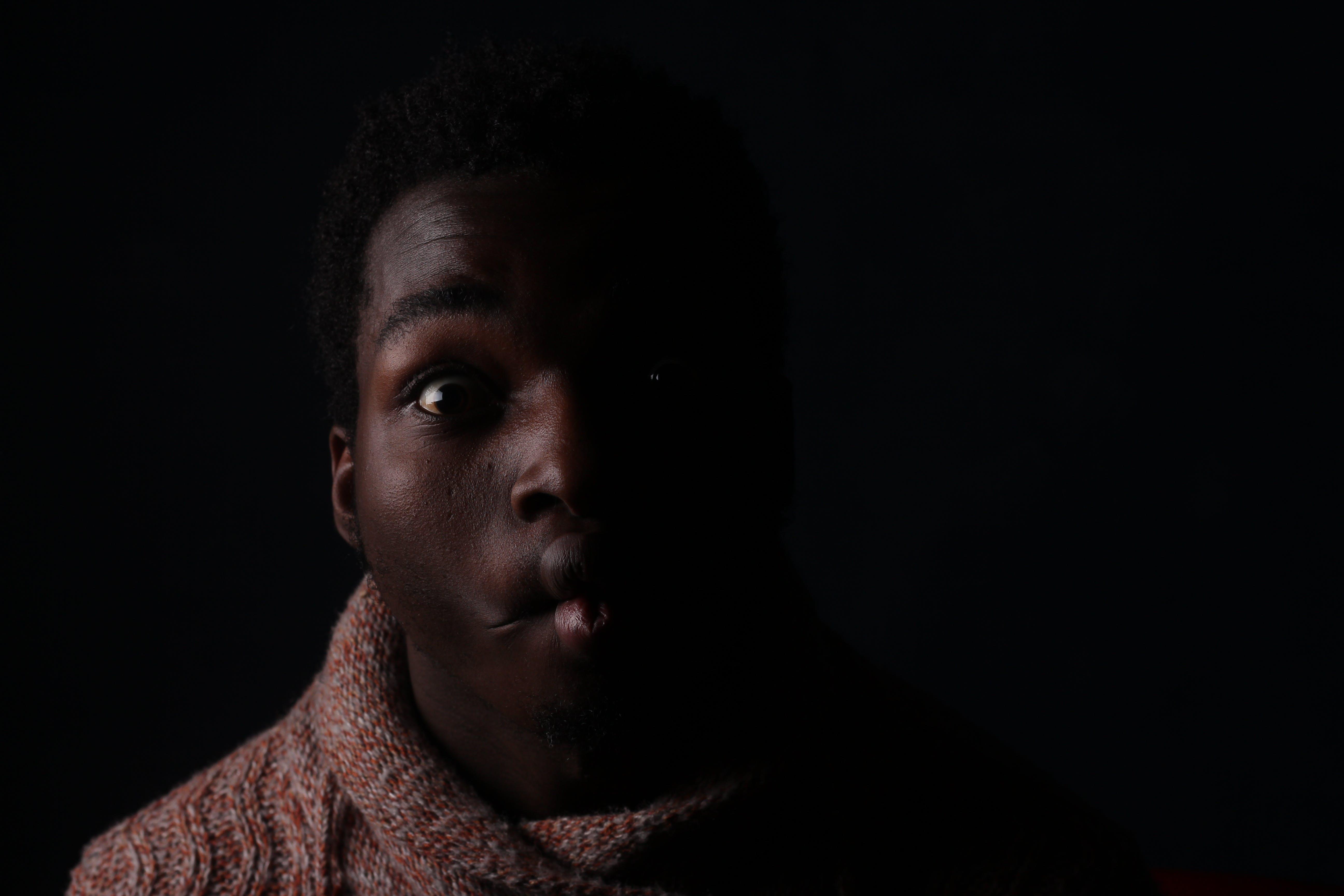Close-up Photo of Man Making Face