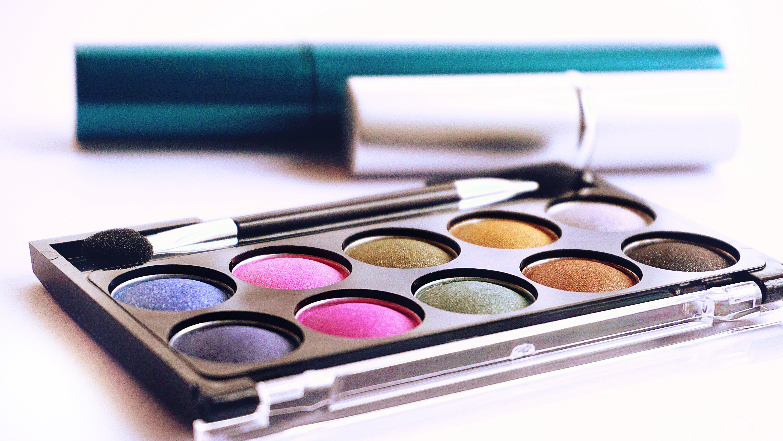 zu augen makeup, drinnen, farben, farbpalette