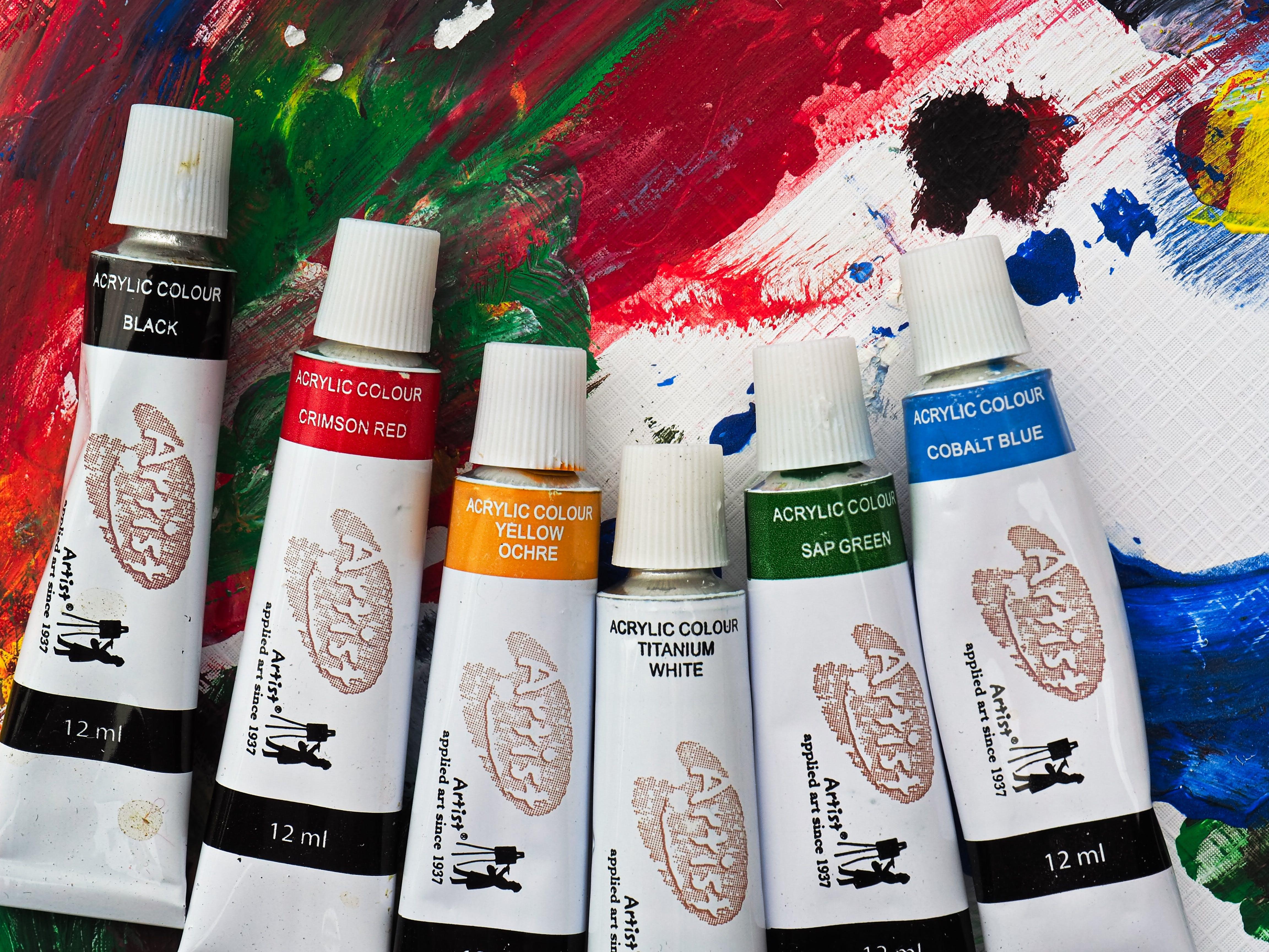 Assorted-color Artist Color Soft-tubes