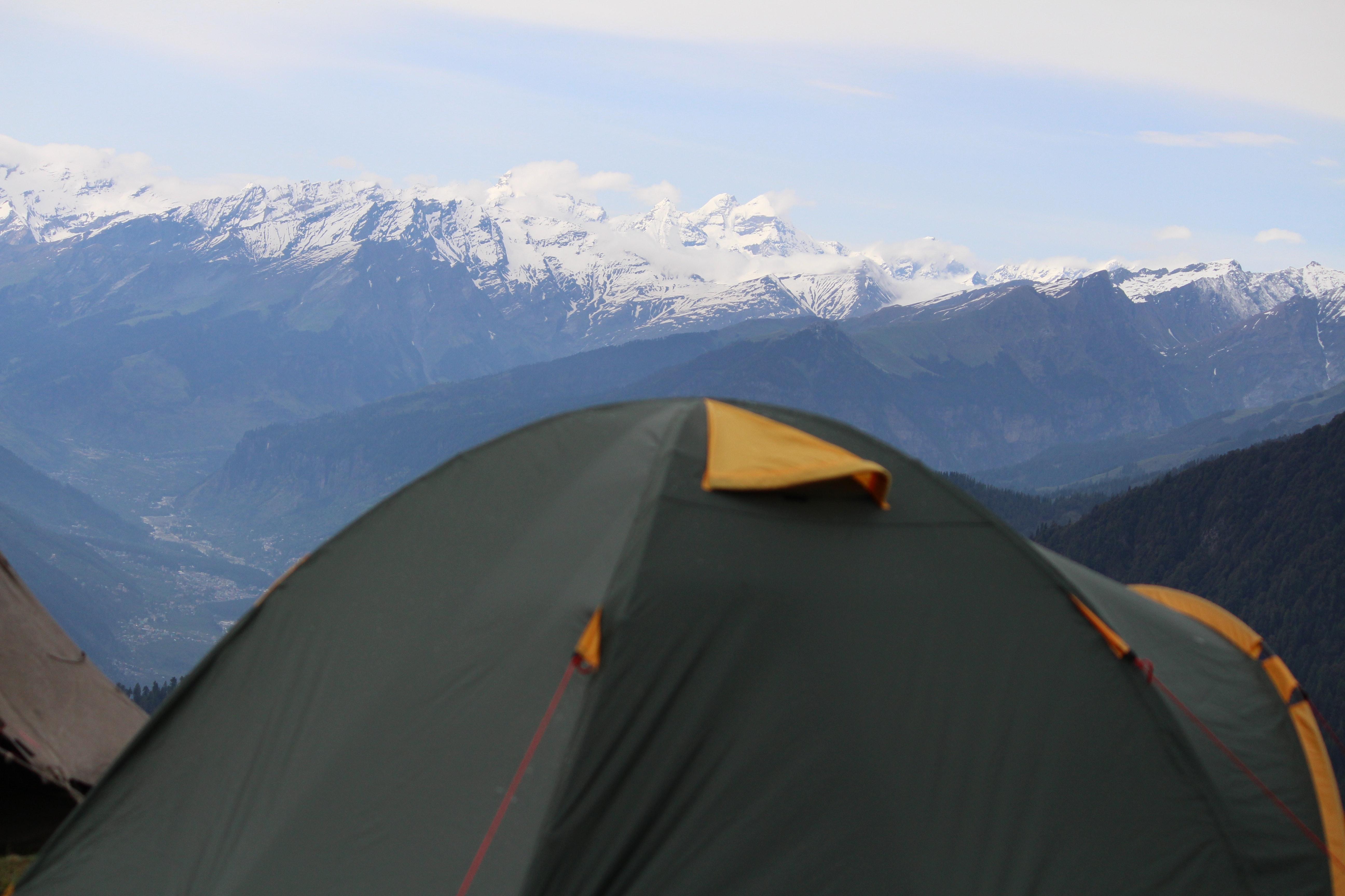 Free stock photo of mountain tent, tent, trekking