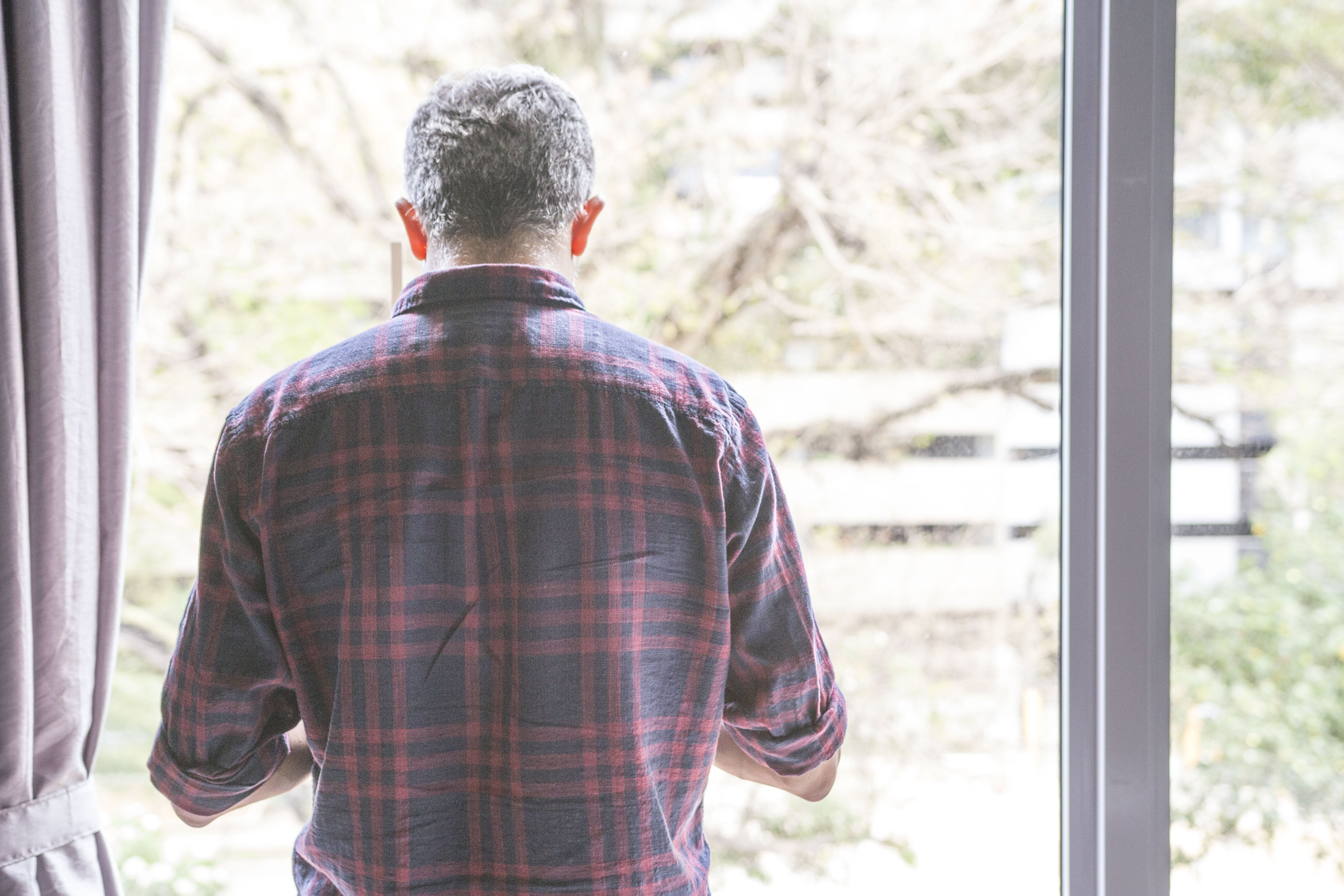 Free stock photo of back, gray hair, light, male