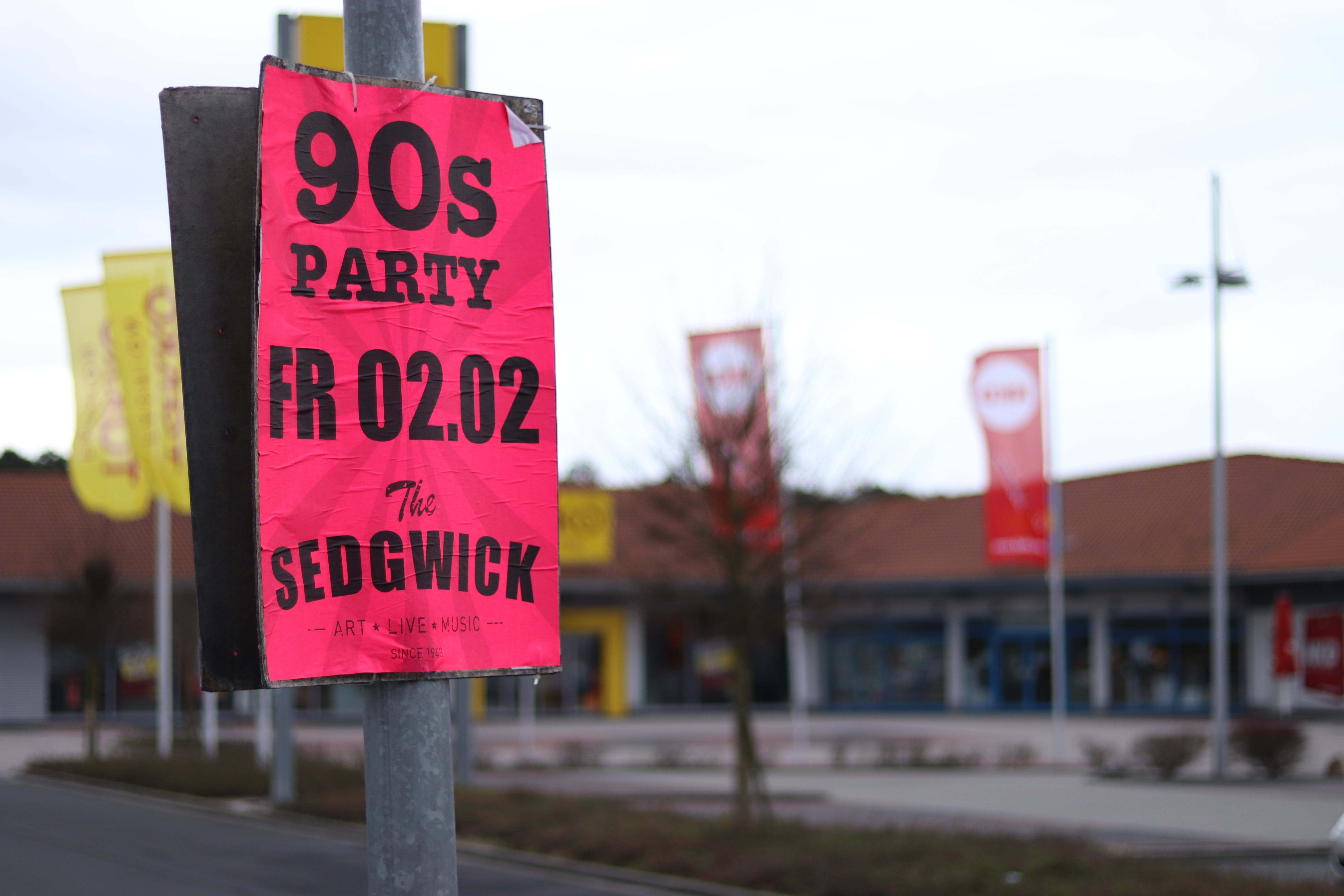 Free stock photo of 90s, party, poster