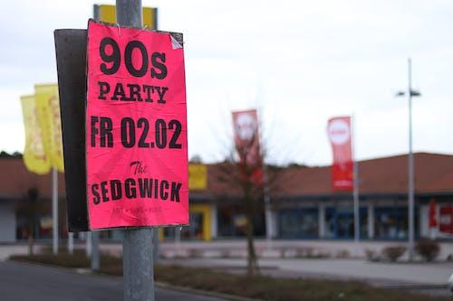 Foto profissional grátis de anos 90, cartaz, comemoração