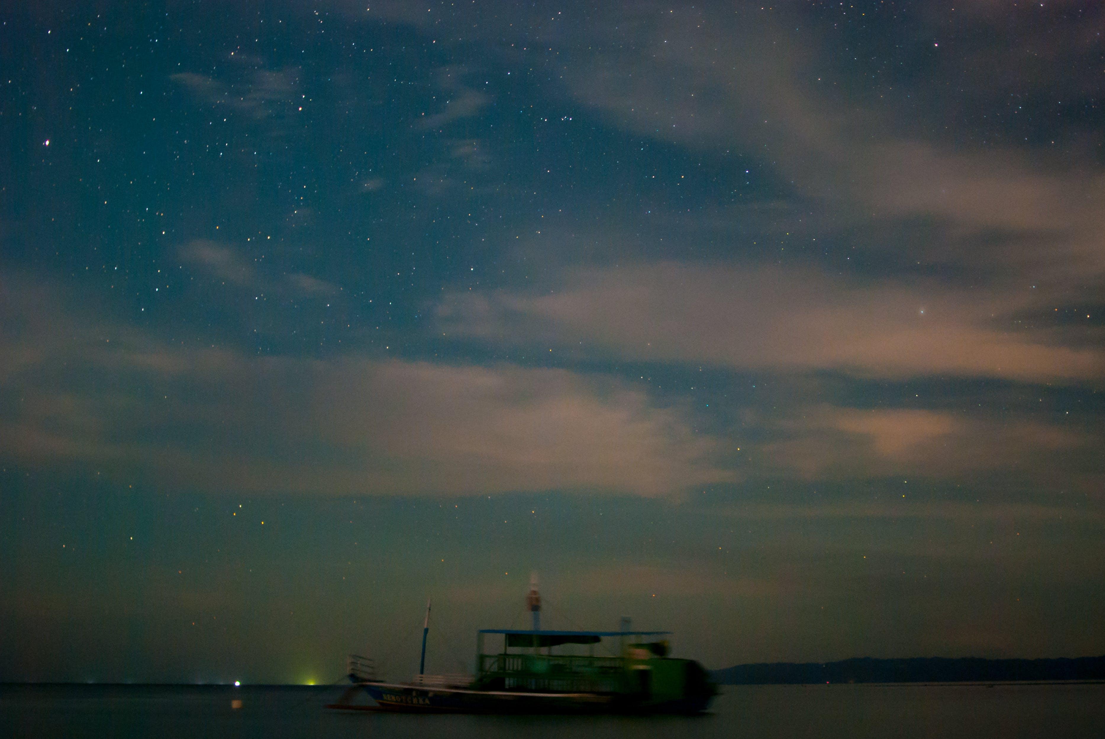 Free stock photo of asia, beach, boat, long exposure