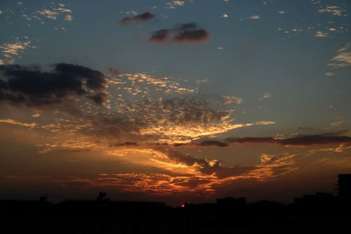 Бесплатное стоковое фото с закат, контраст, небо, шанхай