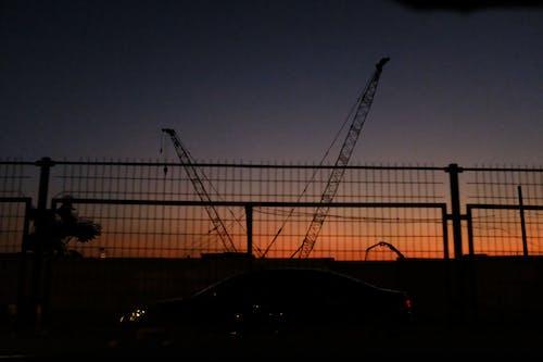 Бесплатное стоковое фото с закат, контраст, шанхай
