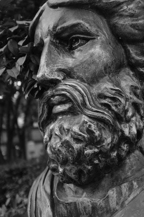 Gratis stockfoto met eenkleurig, Grieks, sophocles, standbeeld