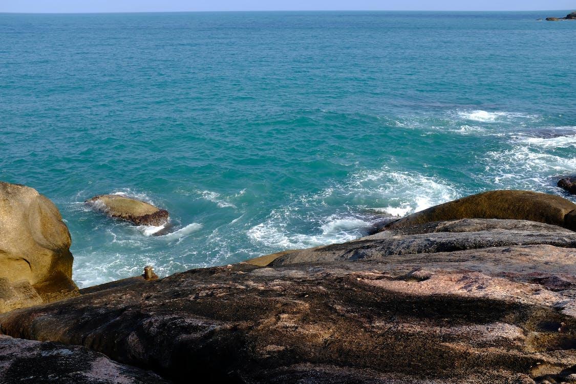 берег, вода, голубой