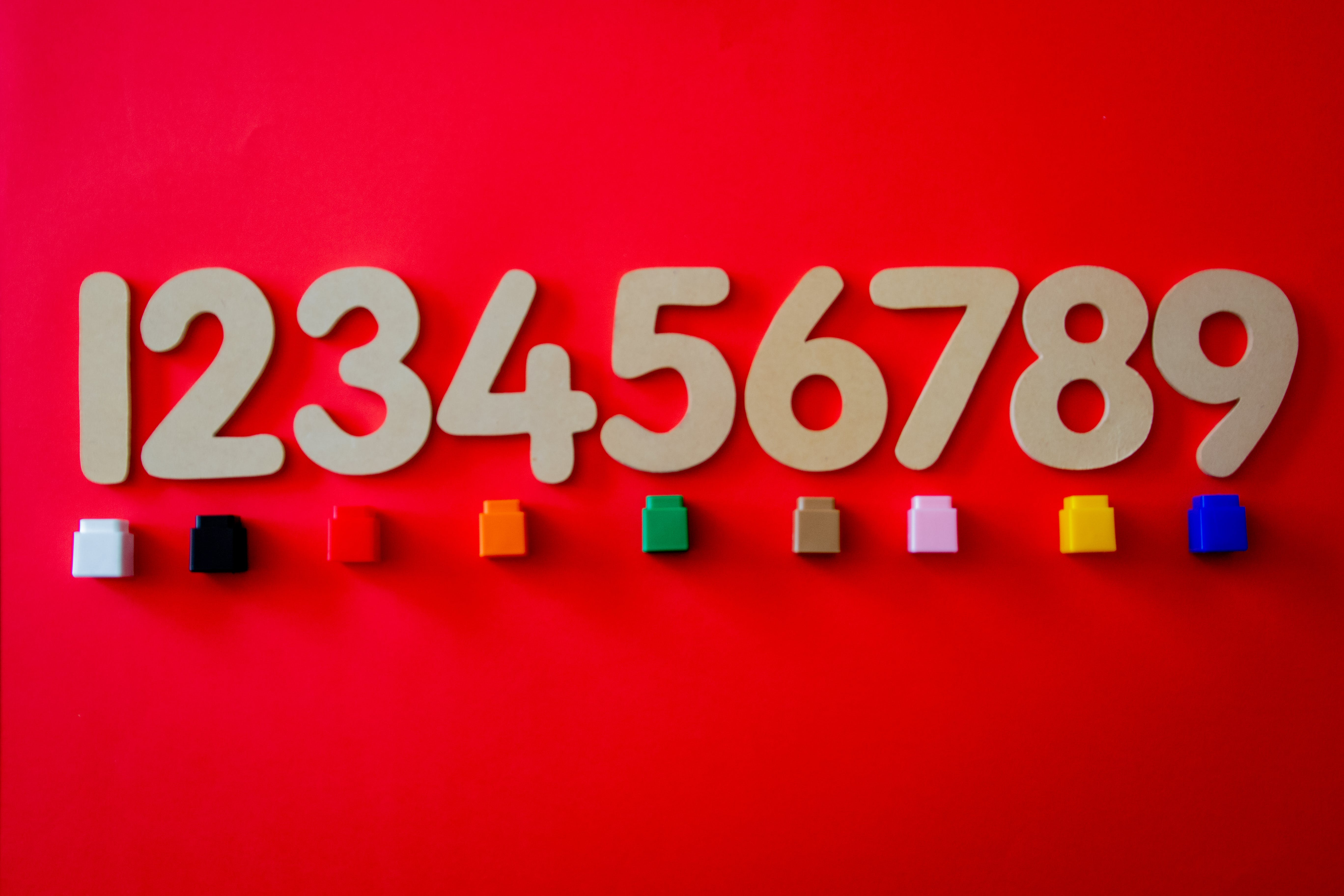 Brown Numbers Cutout Decors