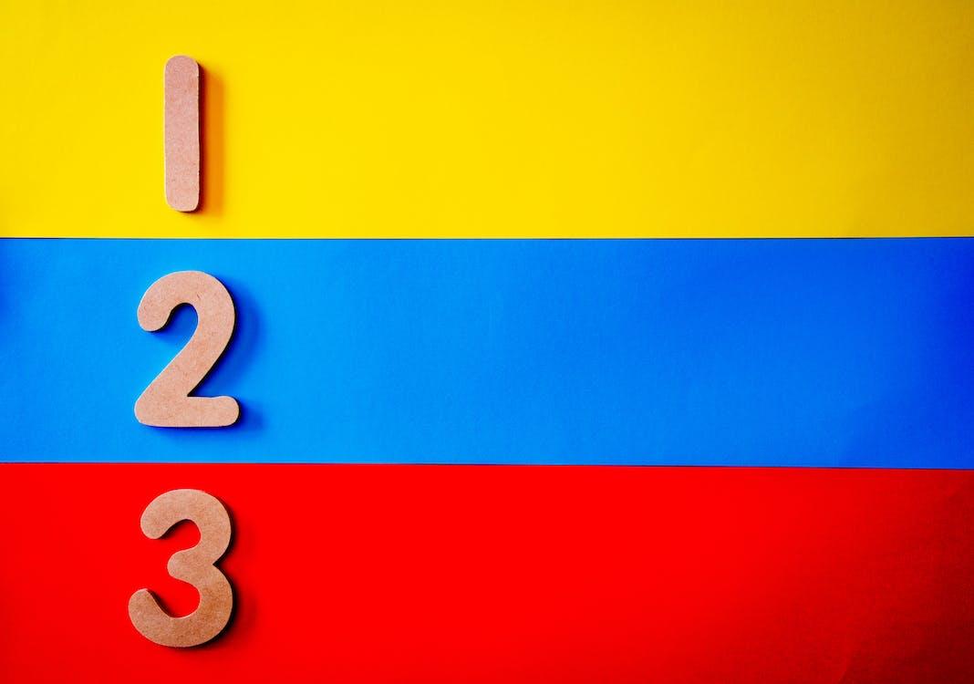 三, 原色, 數字 的 免費圖庫相片