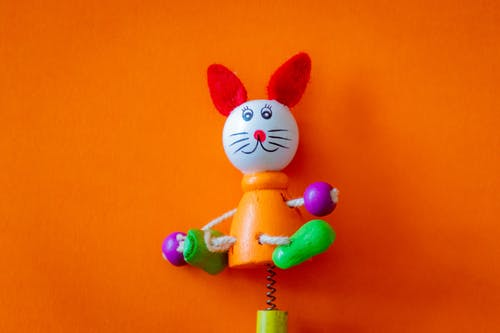 Multicolored Cat Wooden Toy