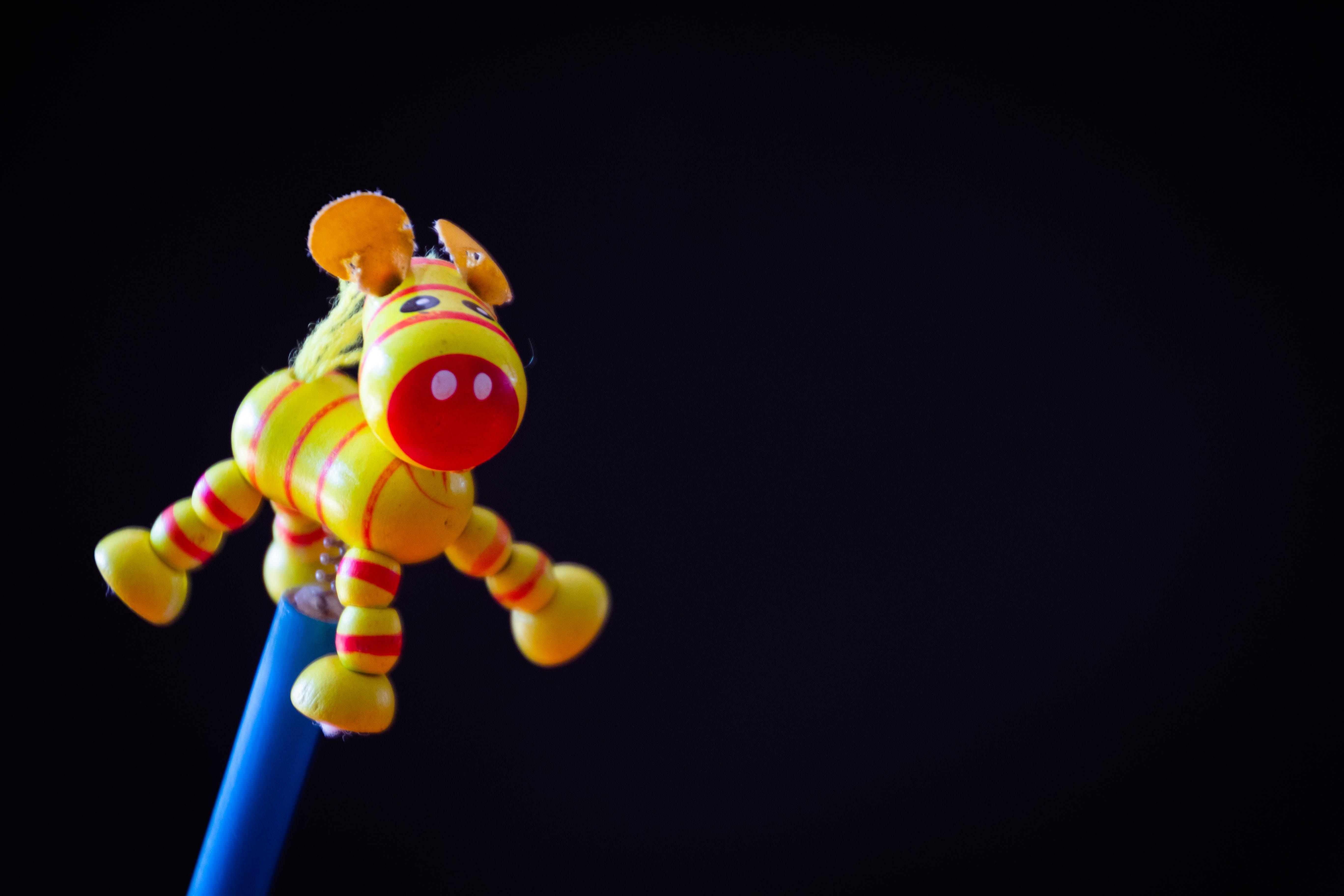 Yellow Donkey Rod Toy