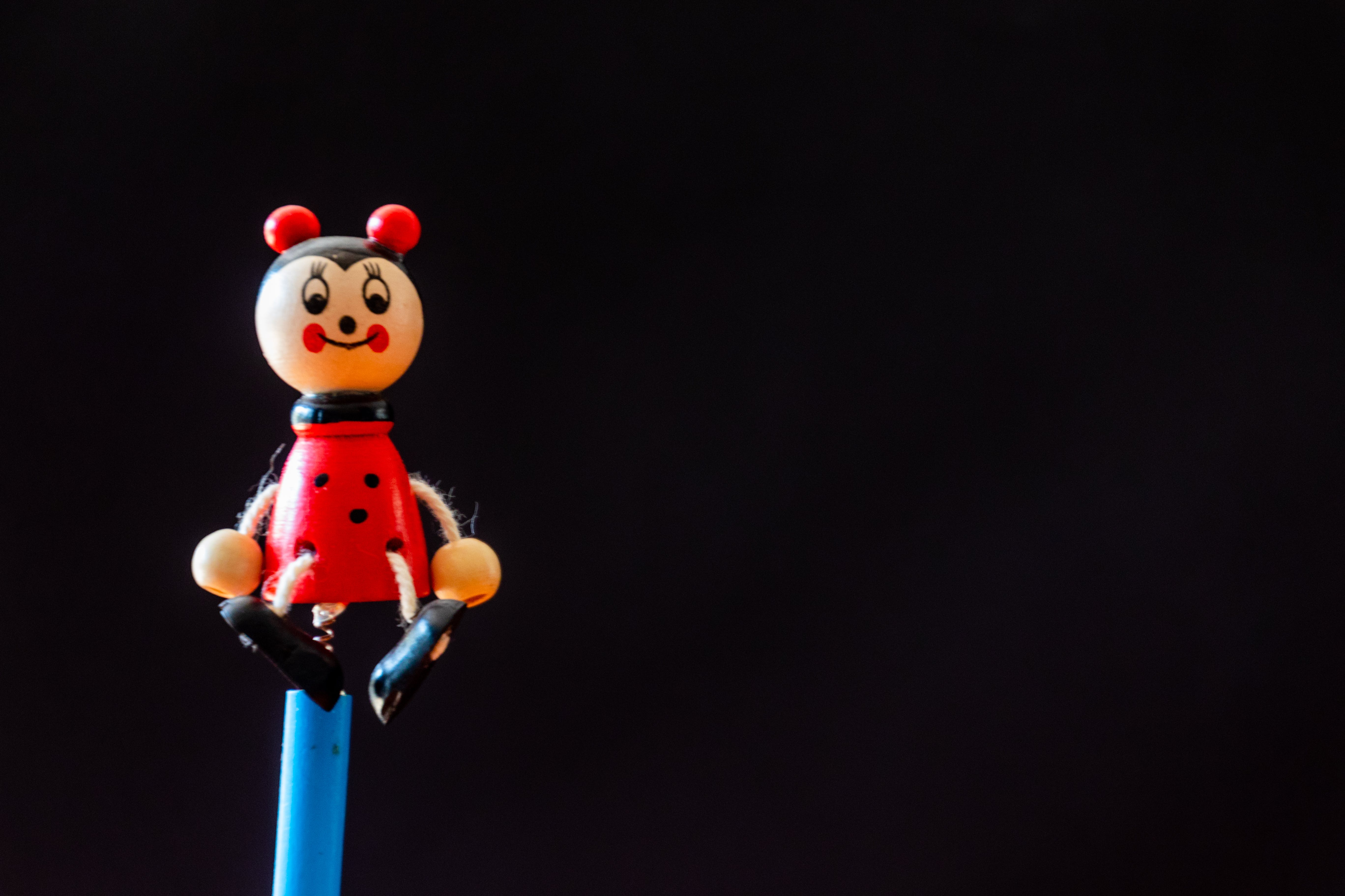Red and Black Plastic Toy
