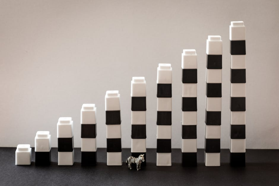White and black plastic toy decor
