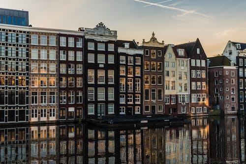 Základová fotografie zdarma na téma Amsterdam, apartmán, architektura, budovy