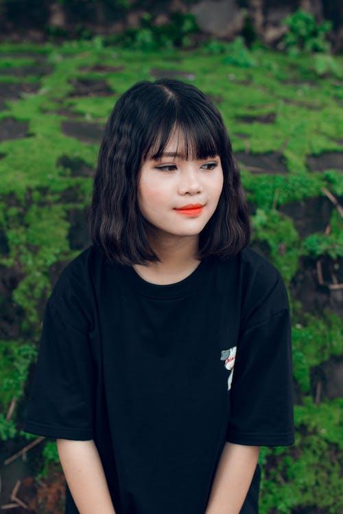asiatisk tjej, attraktiv, flicka