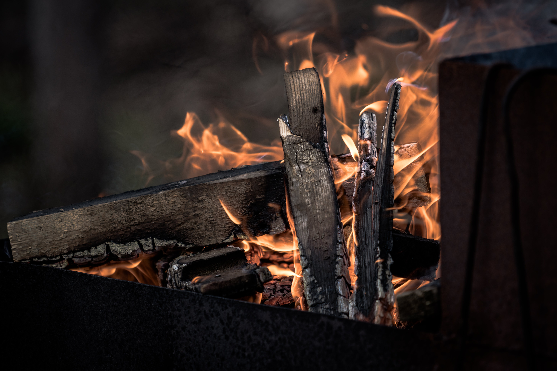 Free stock photo of bonfire, burning, charcoal, dark