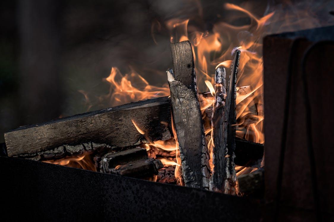 dřevěné uhlí, dřevo, hoření
