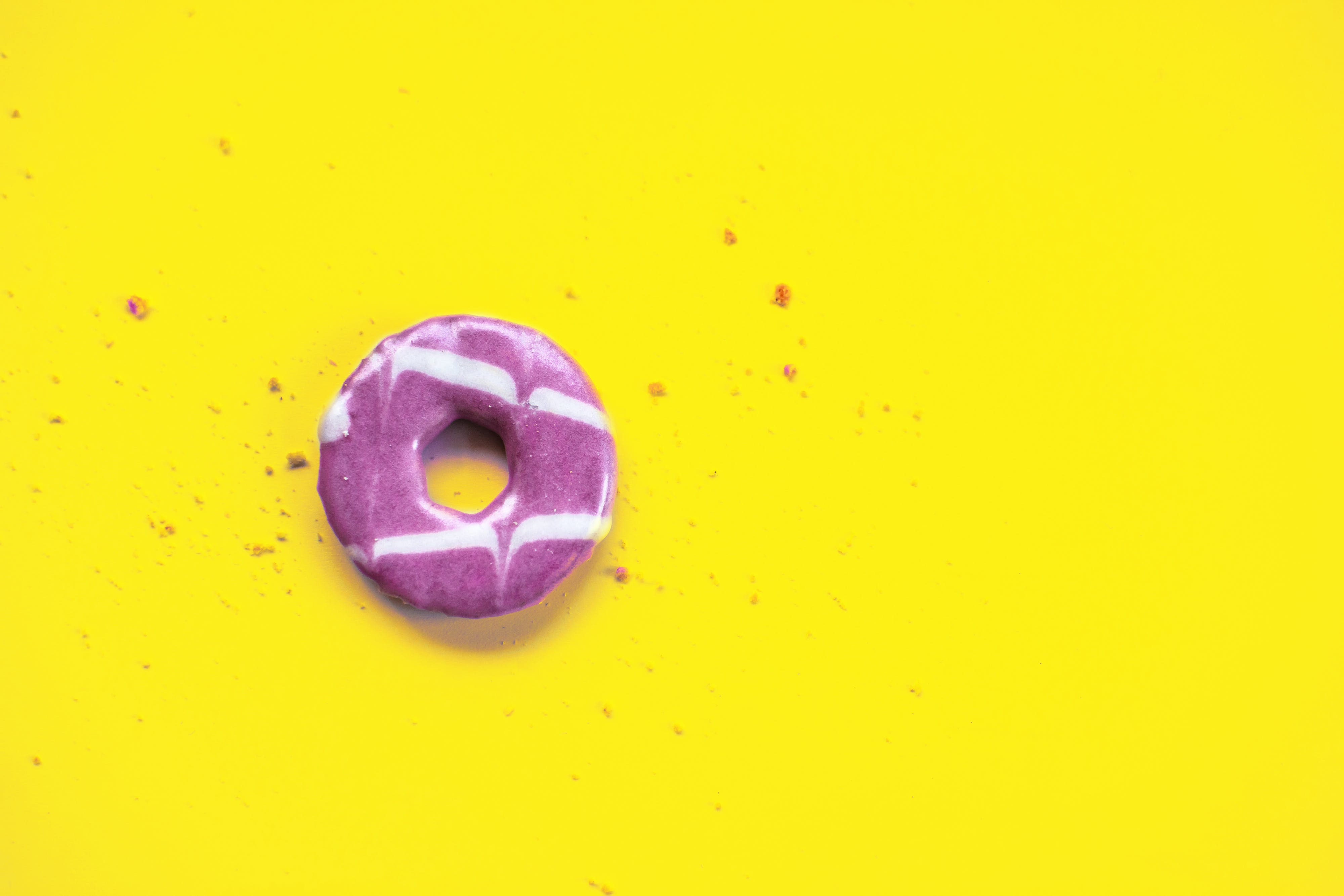 Round Purple and White Ring Candy