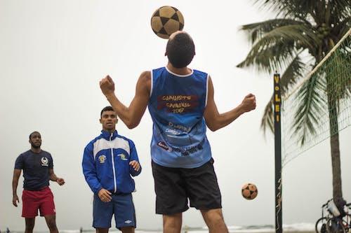 Man Doing Tricks on the Soccer Ball