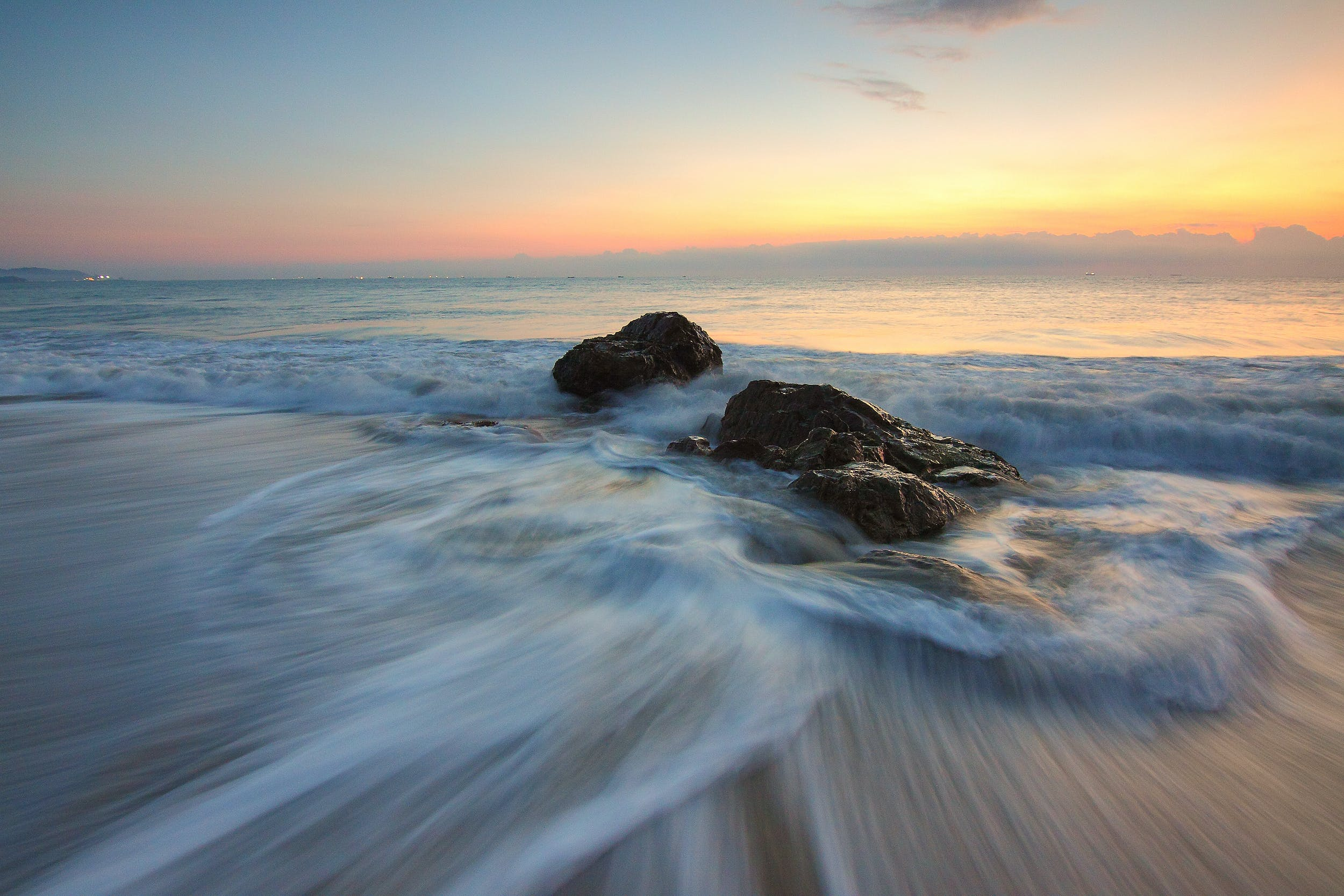Time Lapse Photography of Sea Wave on Seashore during Daytime