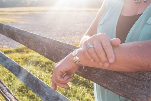 Free stock photo of blue, bracelet, candid, engaged