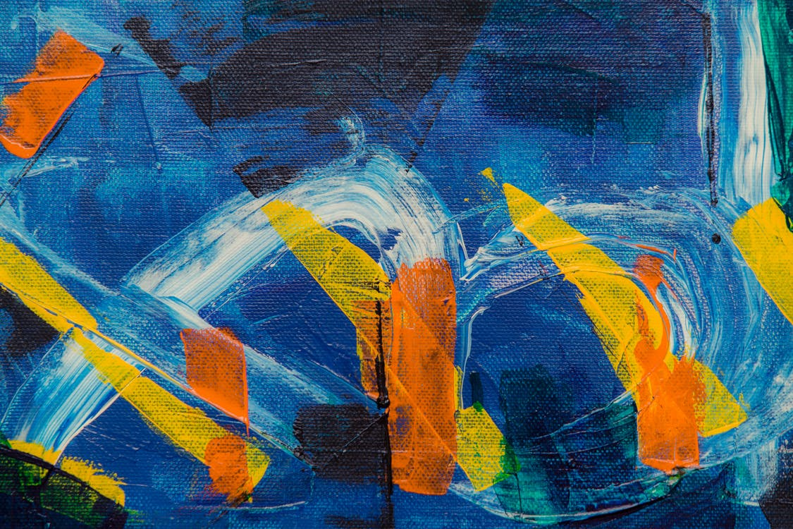 abstraktní obraz, akryl, barevný