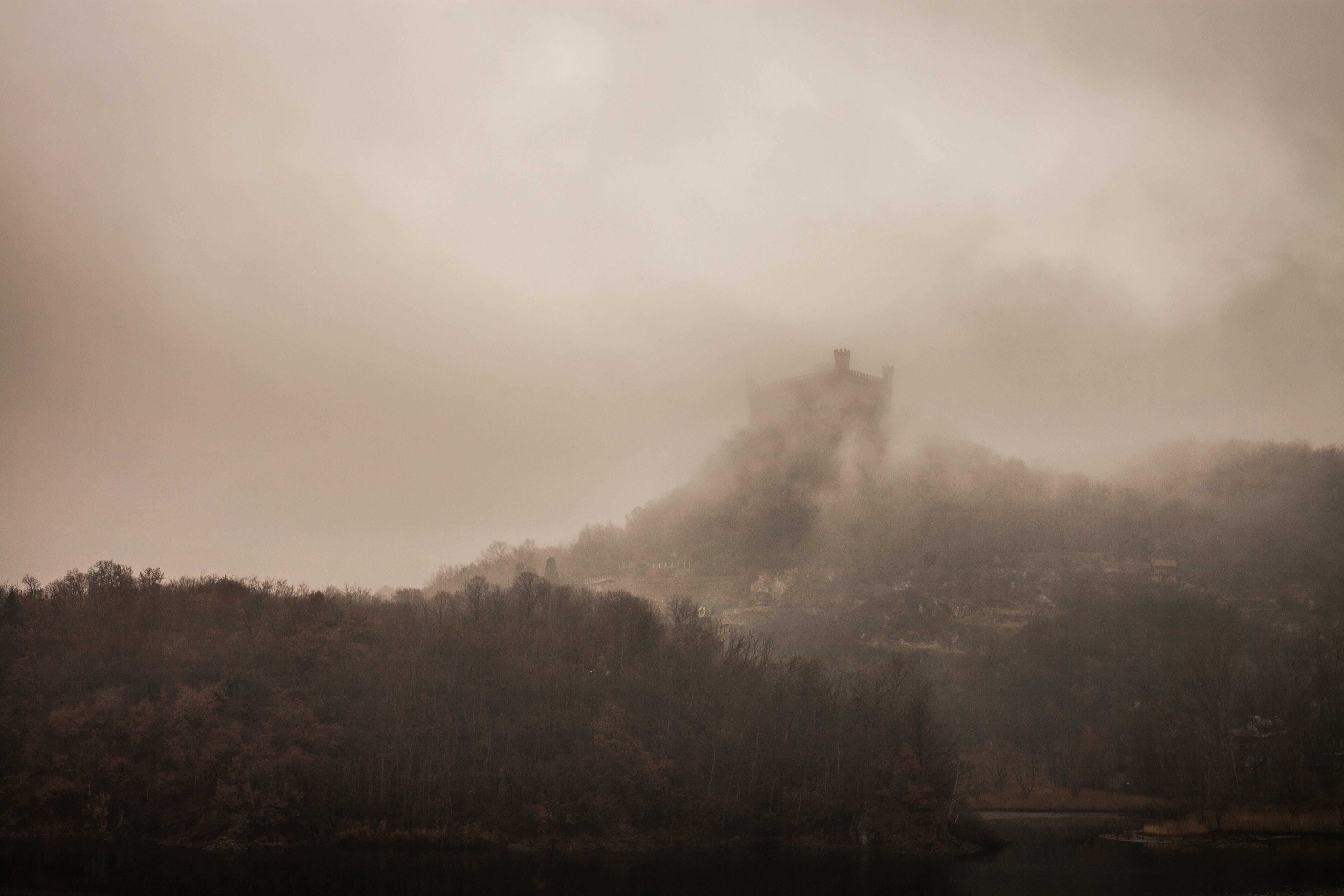 castle, dark ages, fog