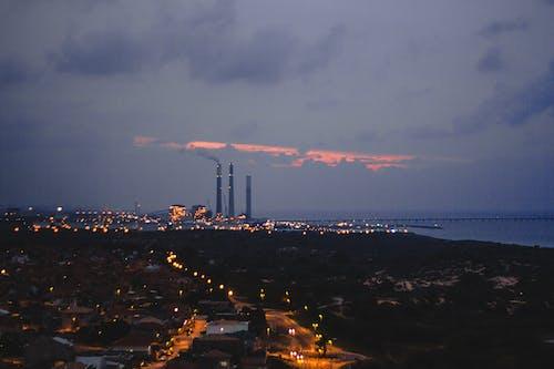 Free stock photo of city, factory, landscape, night city