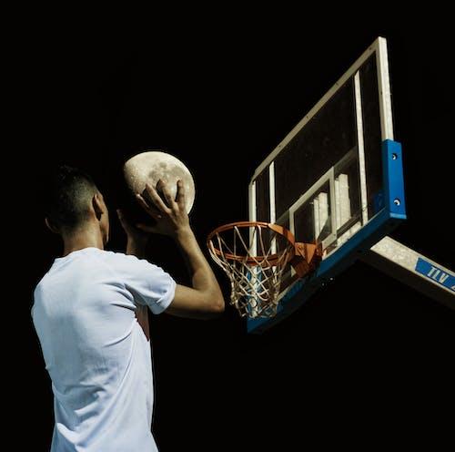 Free stock photo of adobe photoshop, basketball, moon