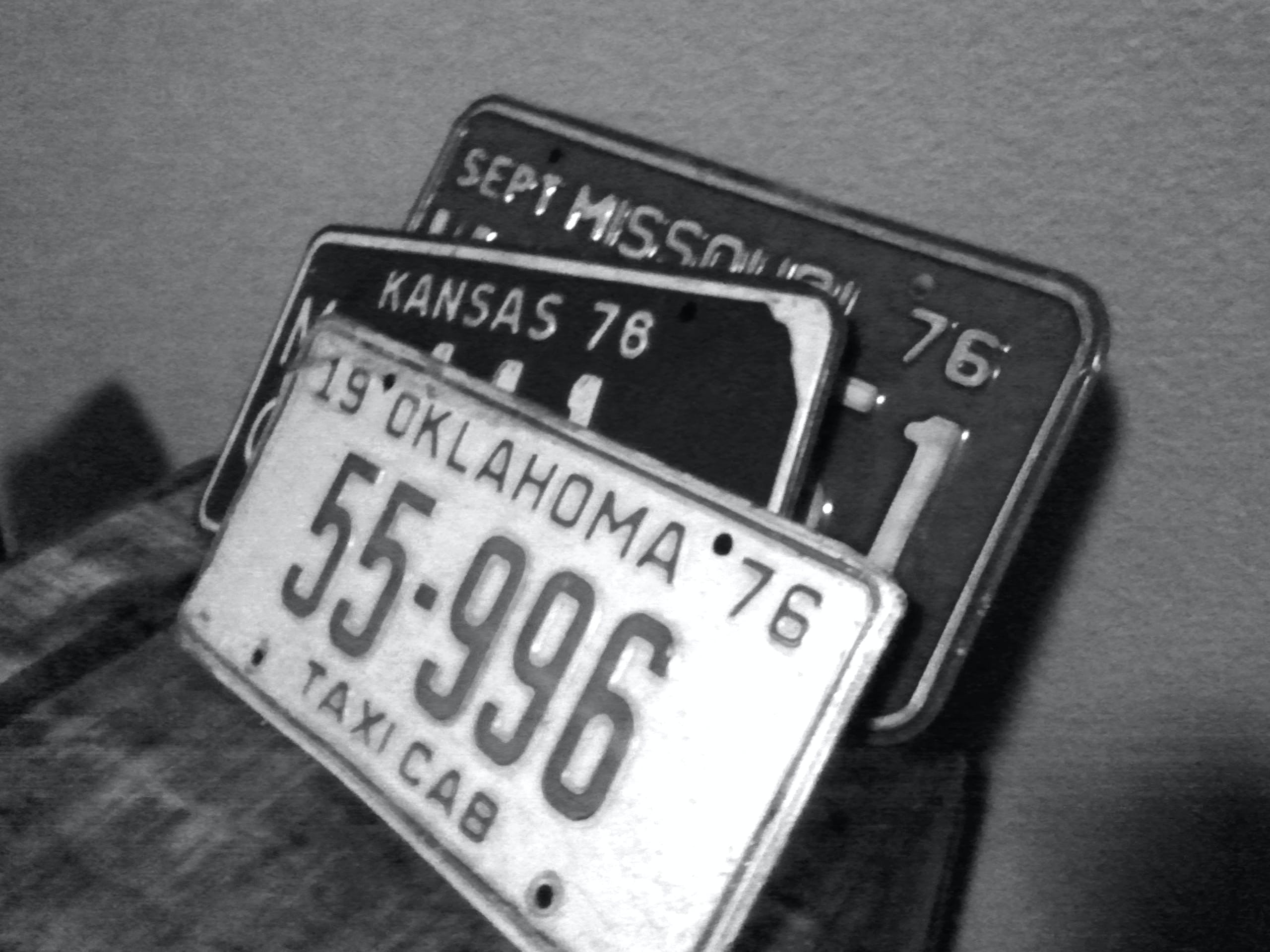 Free stock photo of vintage, old, motor, license plate