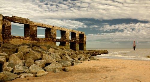 Gratis stockfoto met hemel, kust, kustlijn, muur