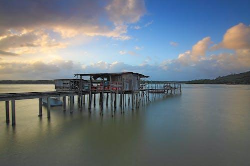 Ingyenes stockfotó ég, felhőzet, fényvisszaverődés, hajóm csónak témában