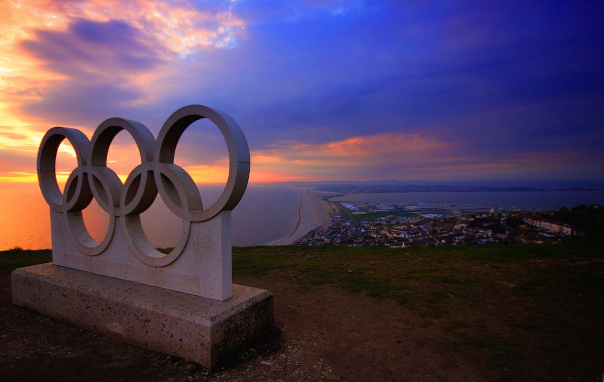 Blocco Di Cemento Grigio Olimpiadi