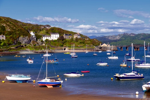 Free stock photo of sea, landscape, mountains, sky