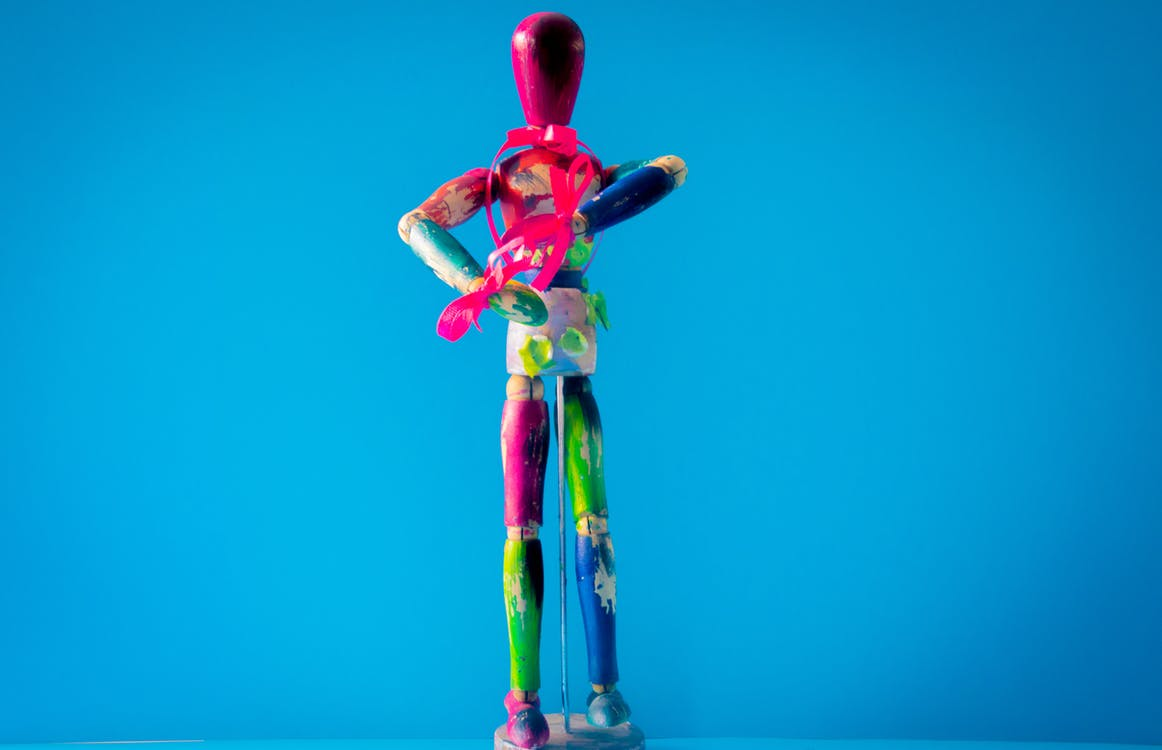 Multicolored Wooden Mannequin