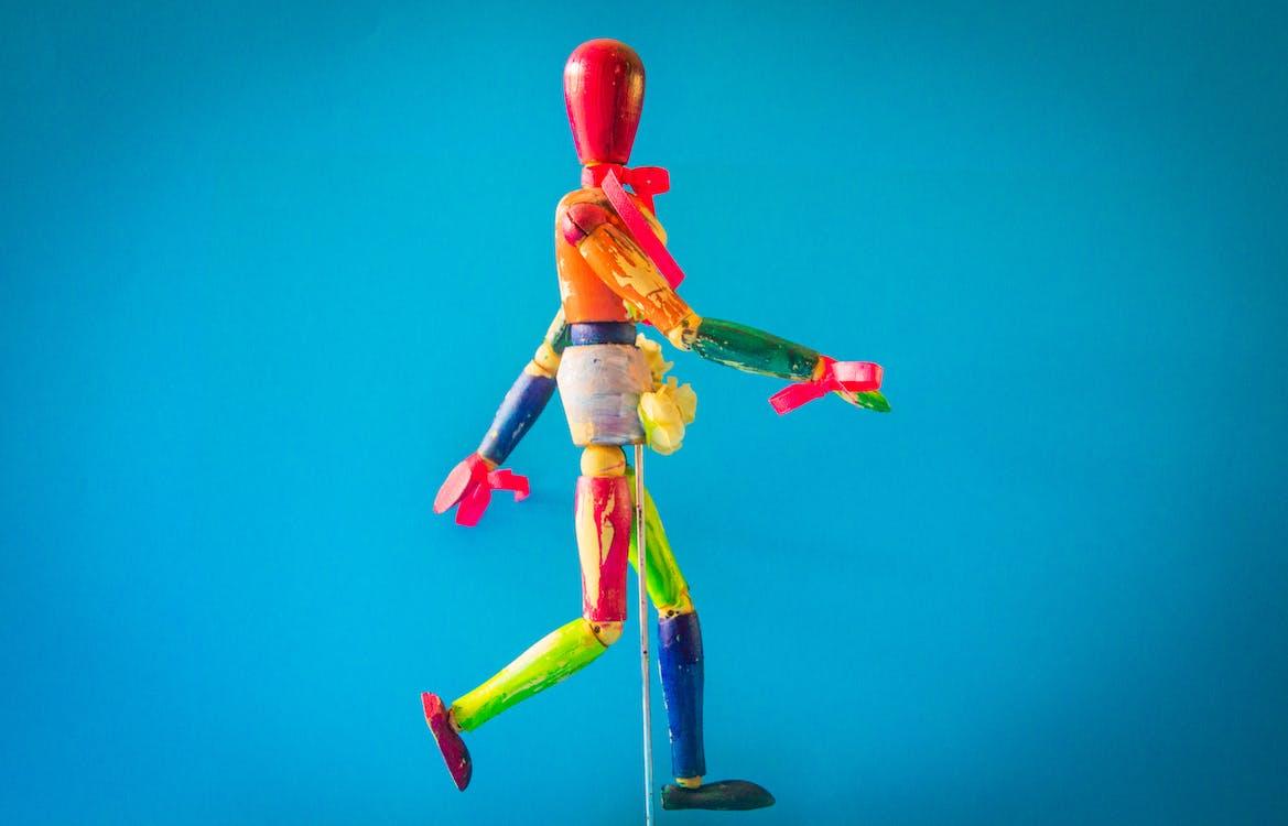 Multicolored Marionette Doll