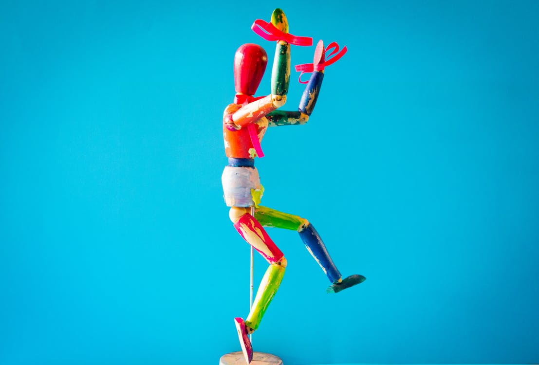 Photo of Small Multi-colored Mannequin
