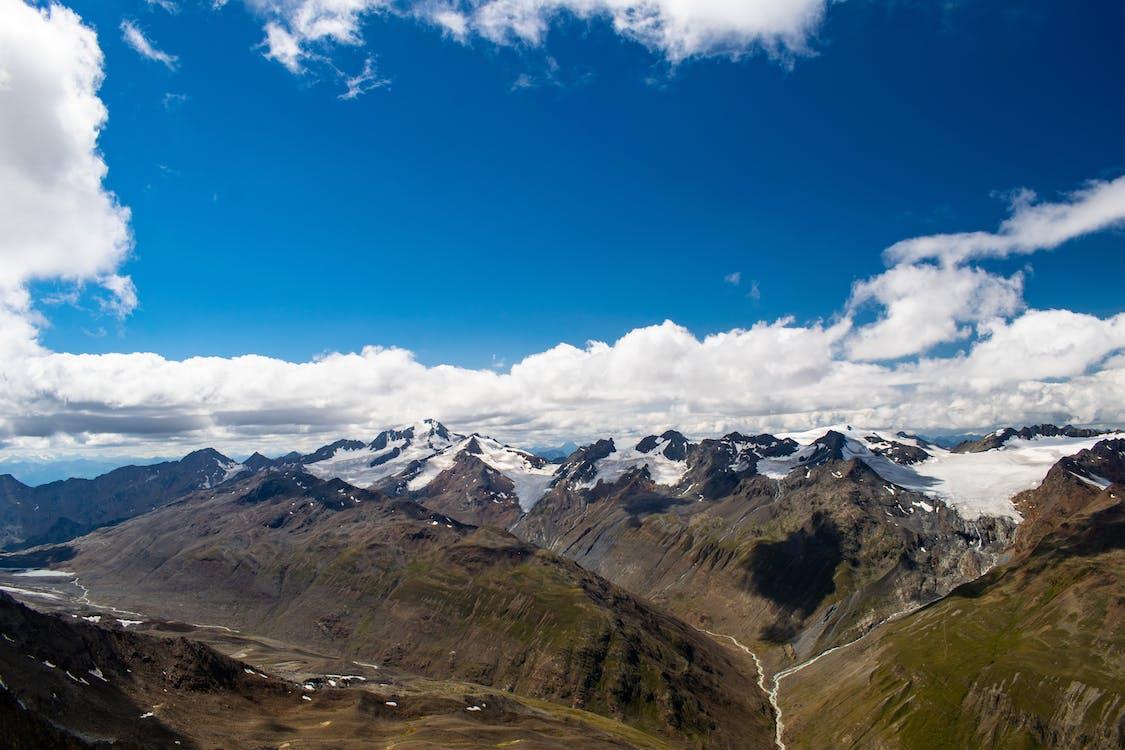 alpes, ciel, glacier
