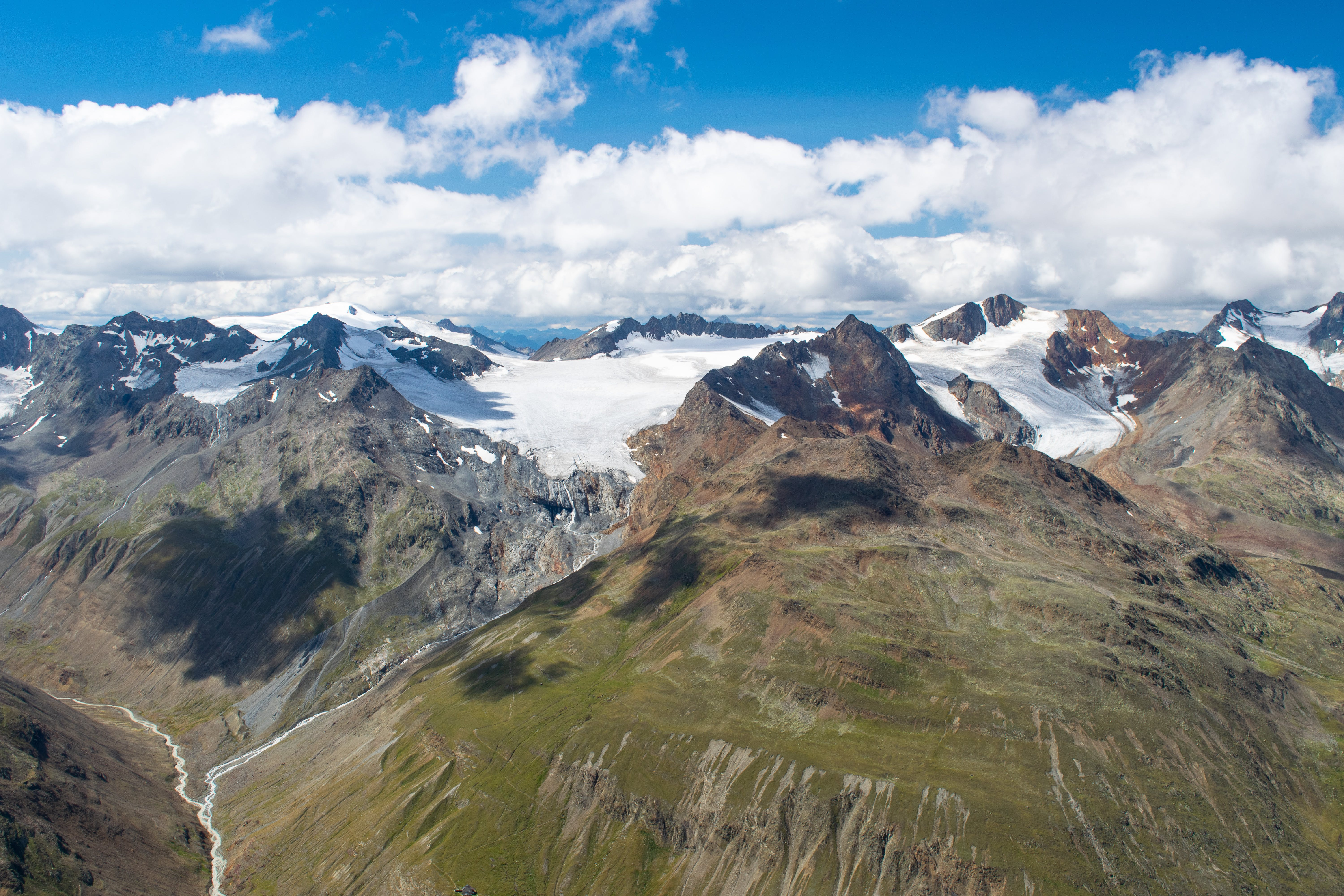Free stock photo of alps, clouds, glacier, height