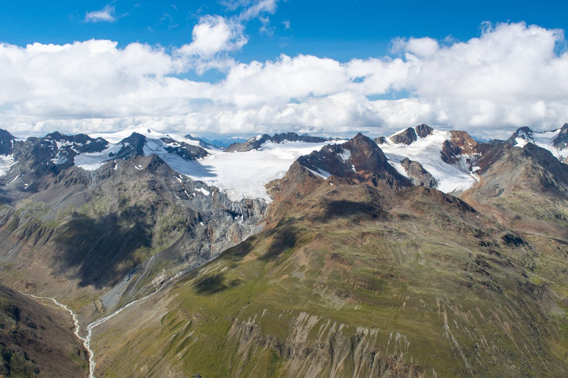 Alpi, banchiză, cer