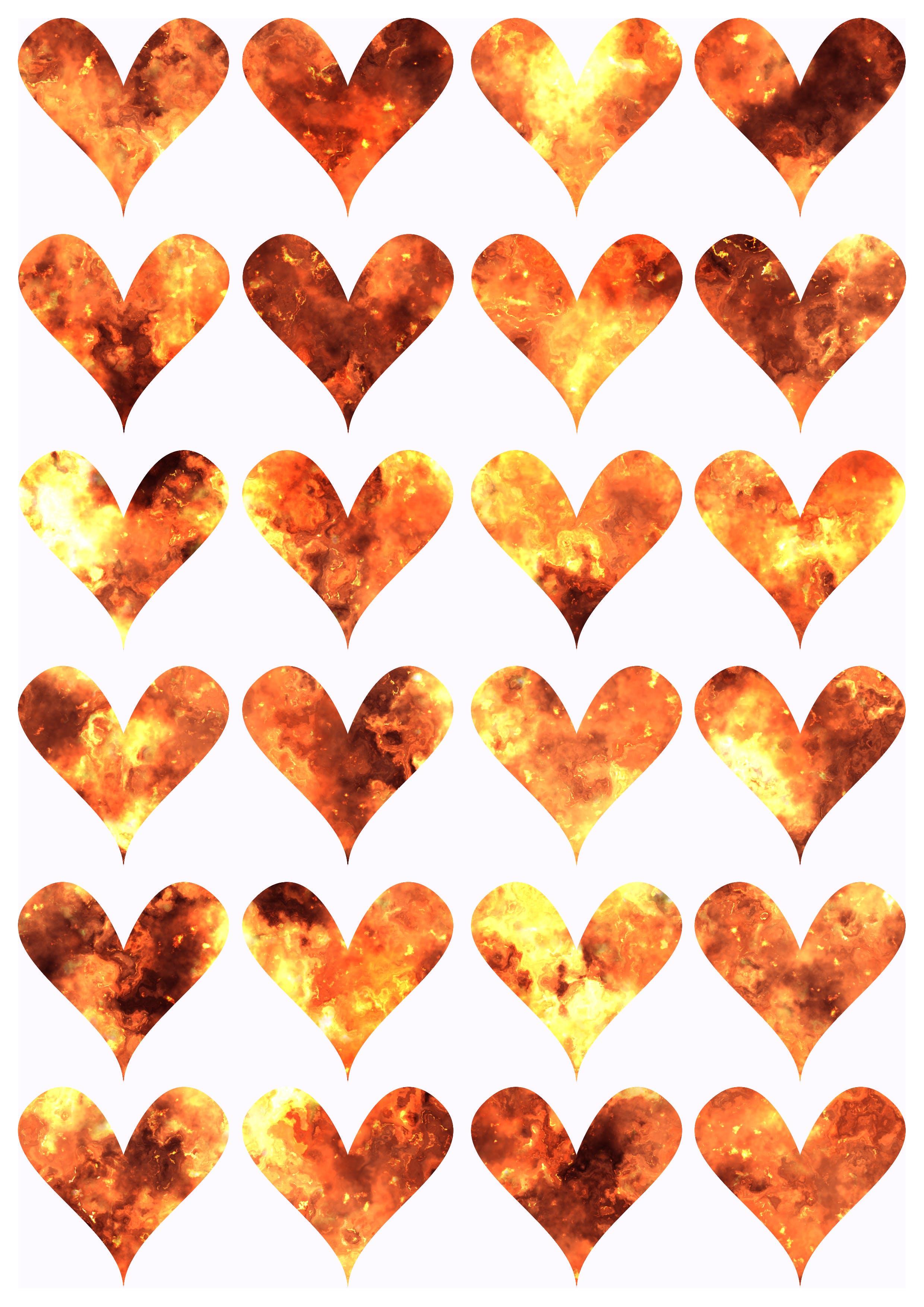 Free stock photo of heart, fire, design, print